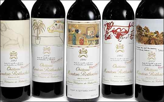 Chateau Mouton Rothschild Bottles
